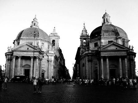 Piazza del Popolo - Inizio della Passeggiata Romana