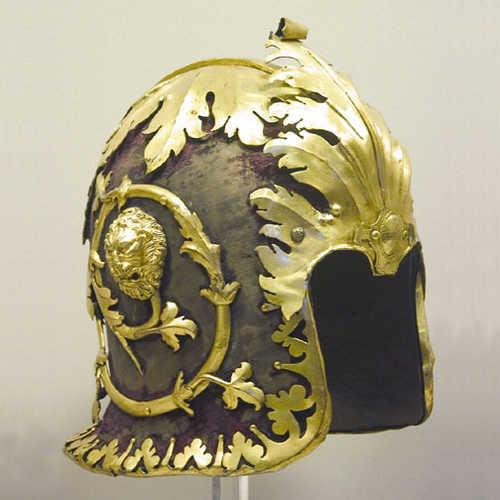 Barbuta alla veneziana in ferro, Roma - Museo Nazionale di Palazzo Venezia