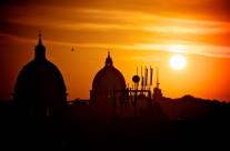 Foto Roma – Tramonto su Cupola di S.Pietro