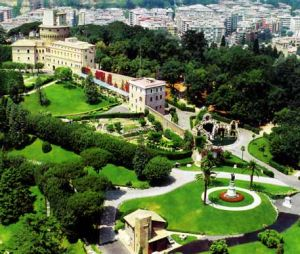 Veduta dei Giardini Vaticani