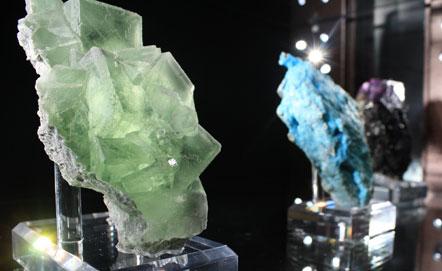 Minerali esposti al Museo di Mineralogia, Roma