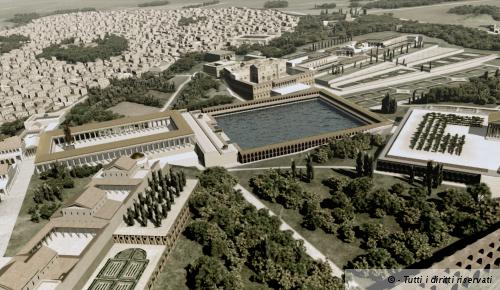 Una Ricostruzione della Domus Aurea realizzata dalla Soprintendenza Speciale per i Beni Archeologici e Culturali
