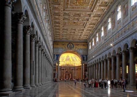 Interno Basilica, San Paolo fuori le Mura