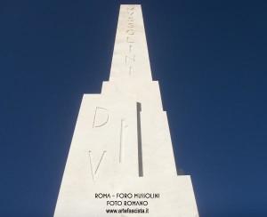 Obelisco Mussolini al Foro Italico