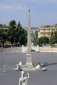 Obelisco Flaminio in Piazza del Popolo a Roma