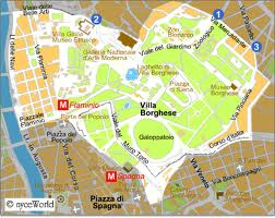 mappa villa borghese