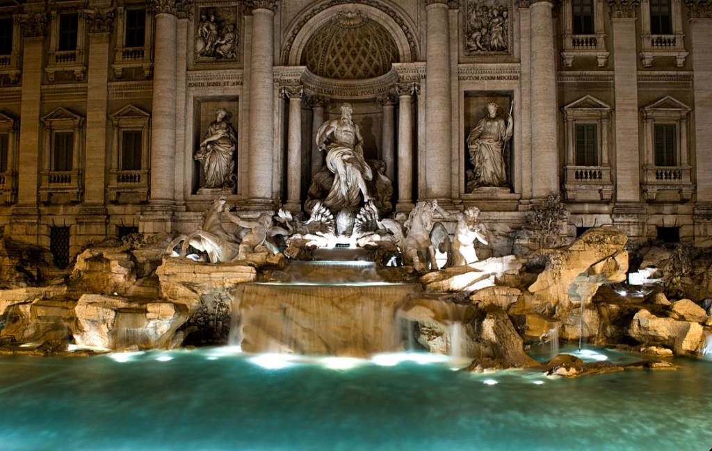 La splendida Fontana di Trevi