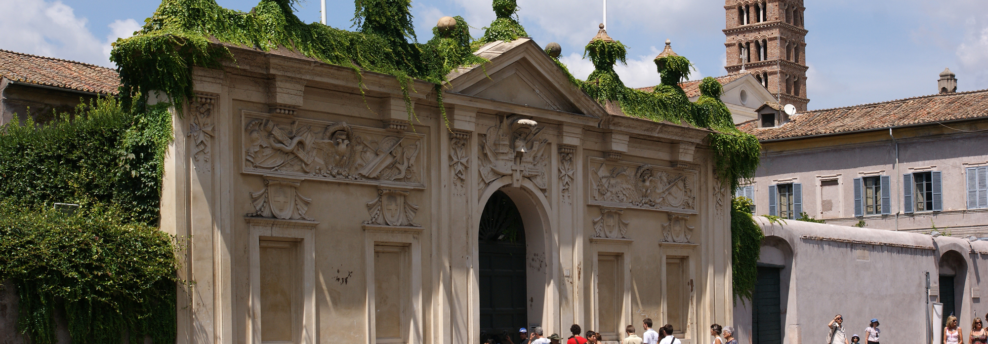 Il buco della serratura panorama suggestivo pro loco for Affitto roma porta di roma