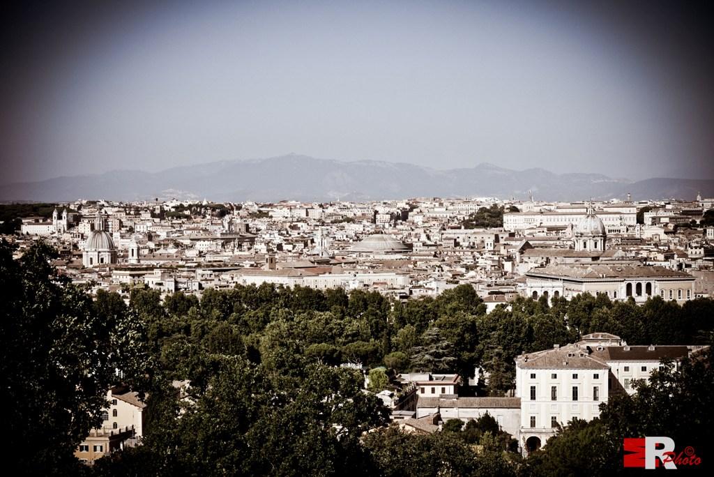 Michele Rallo - Roma, vista dal Gianicolo