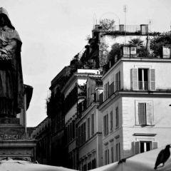 Maurizio Caronia – Statua di Giordano Bruno – Campo de' Fiori