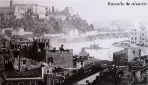 Il colle Aventino visto dal Campidoglio, un'immagine del 1895