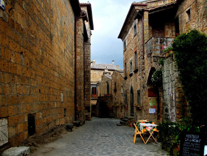 Le viette del borgo di Civita di Bagnoregio