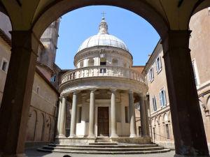 Il tempietto del Bramante presso la Chiesa di San Pietro in Montorio