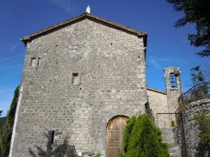 La chiesa della Madonna della Rocca - Jenne - Parco Regionale Monti Simbruini