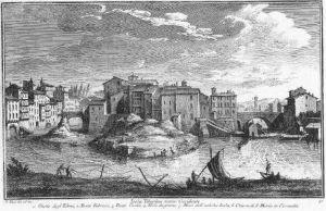 Storica immagine dell' Isola Tiberina