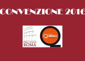 PRO LOCO DI ROMA E TEATRO QUIRINO   CONVENZIONE 2016