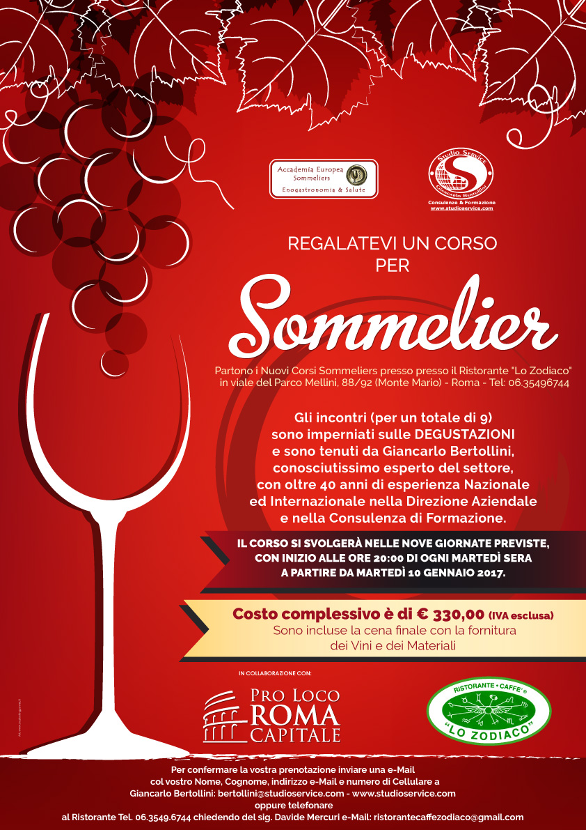 Corso di sommelier 9 incontri per conoscere il vino che - Corso di design roma ...