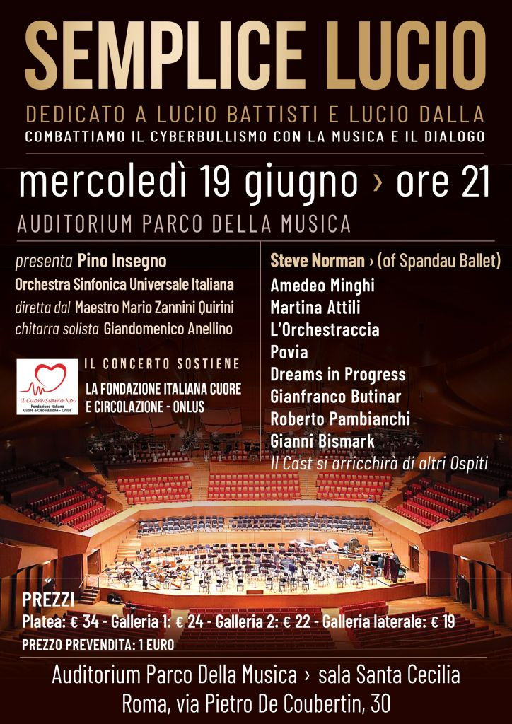 Semplice lucio pro loco di roma pro loco di roma for Auditorium parco della musica sala santa cecilia