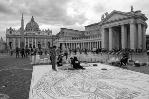 Iniziamo- Infiorata di Roma 2018