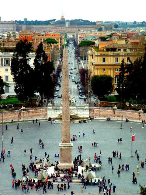 Piazza del Popolo - Vista dal Pincio
