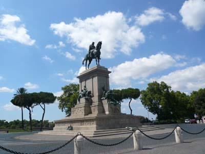 Piazza del Gianicolo - Monumento a Giuseppe Garibaldi