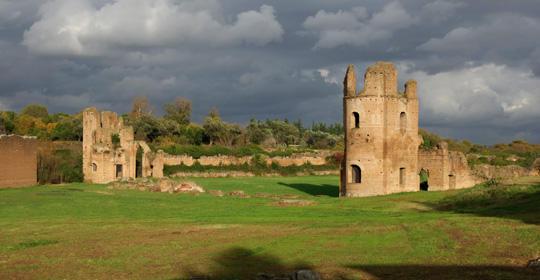 I resti della Villa di Massenzio