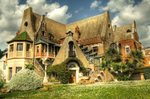 Casina delle Civette all' interno di Villa Torlonia