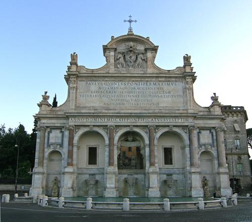 """Fontana dell' Acqua Paola, meglio detta """"Fontanone"""""""