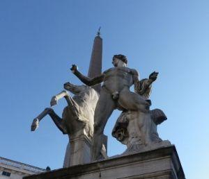 Piazza del Quirinale, Roma -Fontana dei Dioscuri