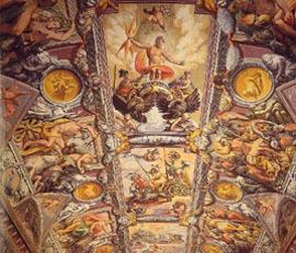 Jacopo Zuchi, Genealogia degli Dei, Volta della galleria, Palazzo Ruspoli, Roma