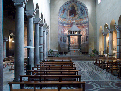 Interno della Basilica di San Saba