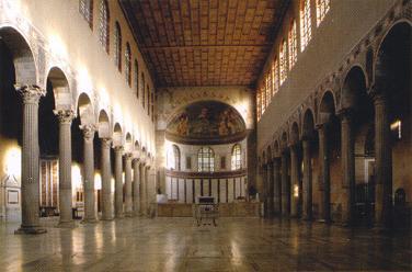 Interno della basilica di Santa Sabina