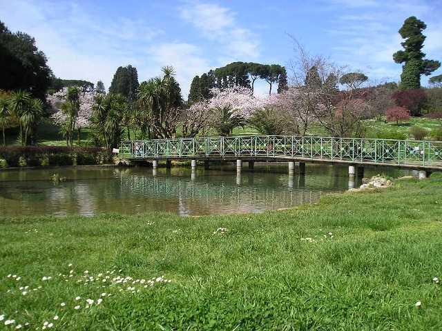 Laghetto nella parte Ovest di Villa Pamphilj