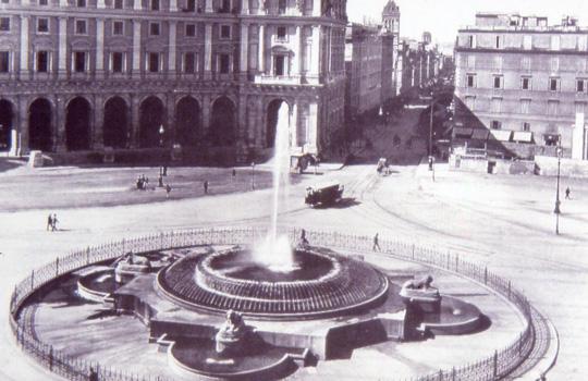 Fontana delle Naiadi progetto Alessandro Guerrieri