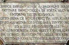 Via del Monte della Farina a Roma