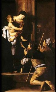 Madonna dei Pellegrini, Caravaggio (1605) - Basilica di Sant'Agostino Roma