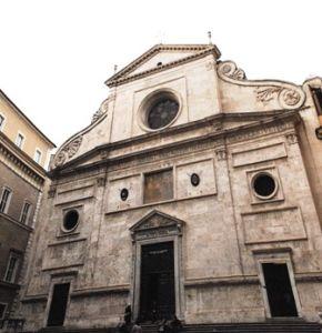 Facciata della Basilica di Sant'Agostino - Roma
