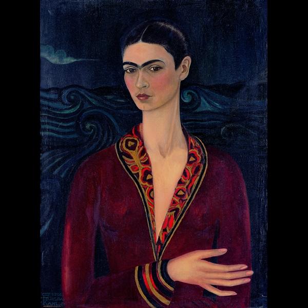 Frida Kahlo - Autoritratto con vestito di velluto 1926