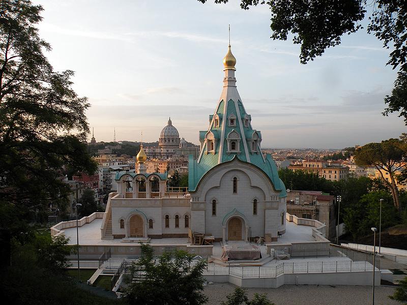 Una splendida vista della Chiesa Ortodossa