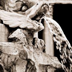 Michele Rallo –  Piazza della Rotonda, dettagli fontana