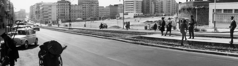Una vecchia immagine di Via Casilina