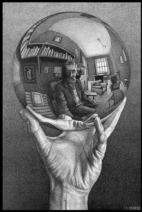 Escher, Mano con sfera riflettente