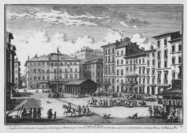 Palo del Supplizio in Campo de' Fiori - 1700