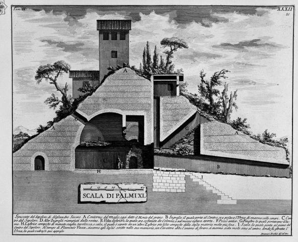 Monte del Grano, una ricostruzione dell'interno del Mausoleo