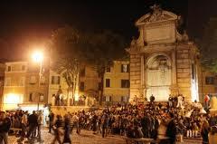 Piazza Trilussa: movida romana