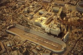 Un'immagine riprodotta del Circo Massimo all'epoca della Roma Repubblicana