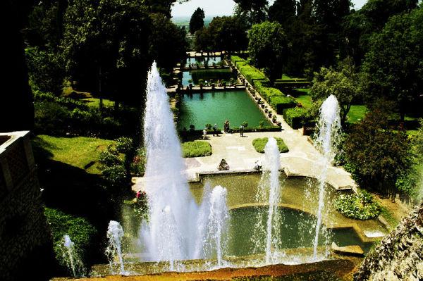 Villa d'Este, vista sui giardini