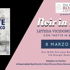"""8 Marzo: in Pro Loco il noir al femminile di Letizia Vicidomini, """"Notte in bianco"""""""