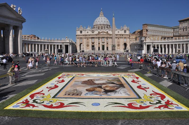 l'Infiorata Storica di Roma per i SS. Pietro e Paolo