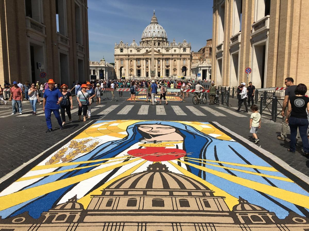 infiorata Roma 2016 - quadro di Sora